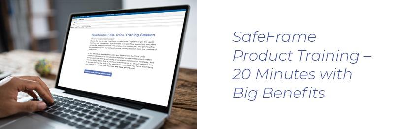 SafeFrame Product Training Header